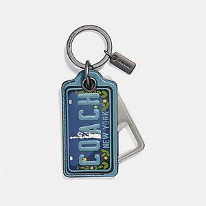 Coach Leather Bottle Opener Keychain PICK